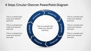 Free 6 Steps Circular Chevron Powerpoint Diagram