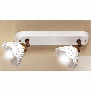 Wandlampen Im Landhausstil : leiste mit zwei keramikschirmchen ~ Sanjose-hotels-ca.com Haus und Dekorationen