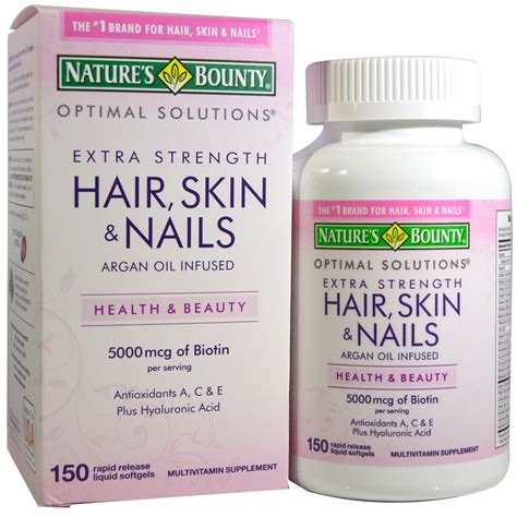Garden Of Hair Skin Nails by Nature S Bounty Hair Skin Nails 150