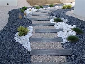 Decorer son jardin avec des pierres 1 dalles galets et for Decorer son jardin avec des galets 10 decoration allee maison