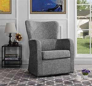 Modern, Swivel, Armchair, Rotating, Accent, Chair, For, Living, Room, Light, Grey