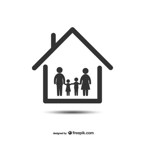 symbol familie heim und familie symbol der kostenlosen vektor