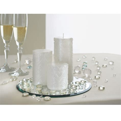 wedding candle set mirror plate wedding gifts ideas