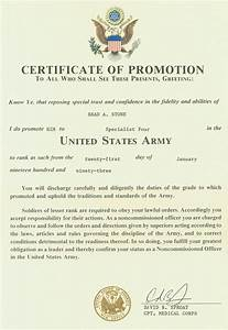 27 images of us army promotion certificate template With certificate of promotion template