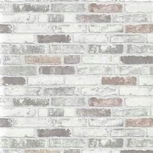 Papier Peint Brique Grise Chicago by Erismann Brix Brick Wall Effect Embossed Textured