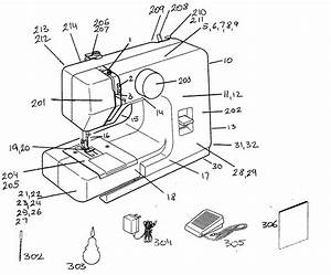 Janome Model 11702 Mechanical Sewing Machines Genuine Parts
