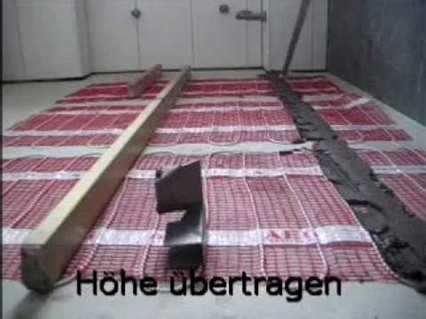 Fliesen Auf Elektr Fußbodenheizung Youtube