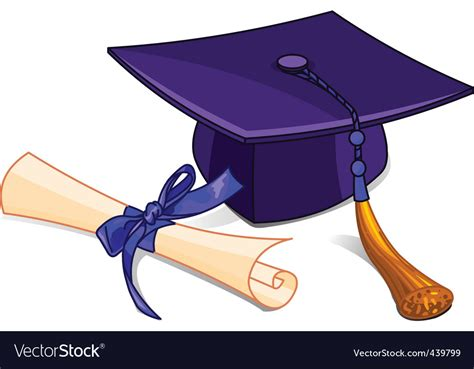 Graduation Cap And Diploma Royalty Free Vector Image
