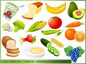Collage clipart food art - Pencil and in color collage ...