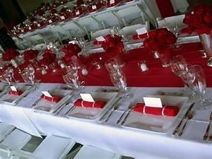 Deco Mariage Rouge Et Blanc Pas Cher : deco table mariage rouge et blanc ~ Dallasstarsshop.com Idées de Décoration
