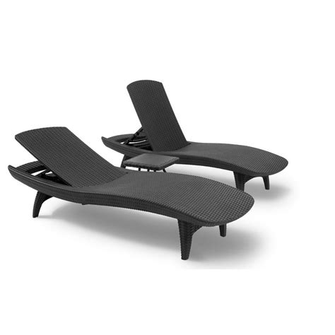 chaise longue plastique keter pacific sun chaise lounger set with table price