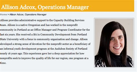 Staff Bio Template by 7 Steps To Compelling Staff Bios On Your Nonprofit Website