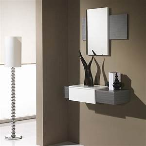 console hall d entree fashion designs With meuble d entree avec miroir 1 meuble dentree design miroir concept