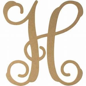 12quot wood letter vine monogram h ab2203 craftoutletcom With vine monogram letters