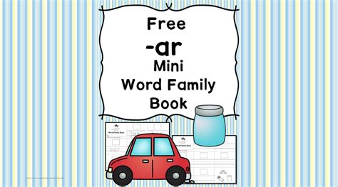 cvc ar family worksheets build  minibook