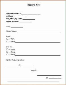 Doctor note free doctors note template 22 doctors note for Fake dr note template free