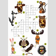 Wild Animals Crossword Puzzle For Studying English Vocabulary  Free Printable Puzzle Games