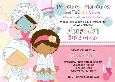 spa birthday party invitations printables  spa party