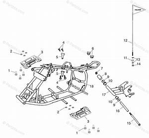 Polaris Atv 2002 Oem Parts Diagram For Frame Body   Cb  Cc
