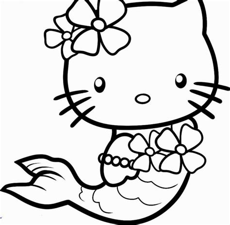 kitty mermaid coloring pages coloring pages