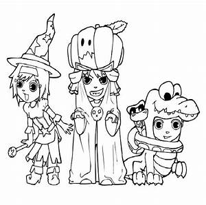 Halloween Monster Coloring Pages Printable Sketch Coloring ...