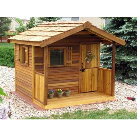 The Cedar Shed - cedar shed log cabin cedar playhouse from the tip top of