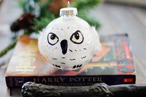 diy harry potter hedwig christmas ornament life family joy
