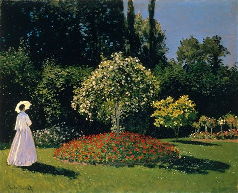 Claude Jardin by 1867 Femme Au Jardin Claude Monet The Jayllery