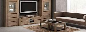 Meuble Tv Chene Massif Moderne : salon figaro en ch ne massif style moderne meubles bois massif ~ Teatrodelosmanantiales.com Idées de Décoration