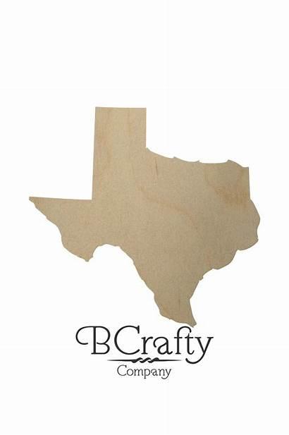 Texas State Shape Wooden Cutout Wood Cutouts