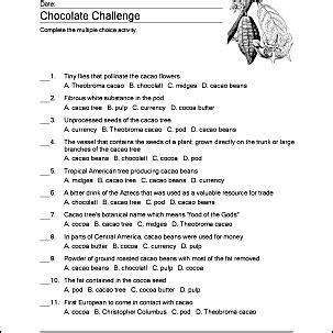 chocolate wordsearch vocabulary crossword