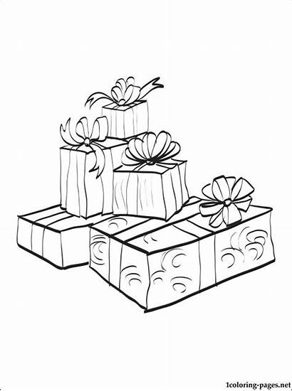 Coloring Gifts Pages Printable Presents Such Those