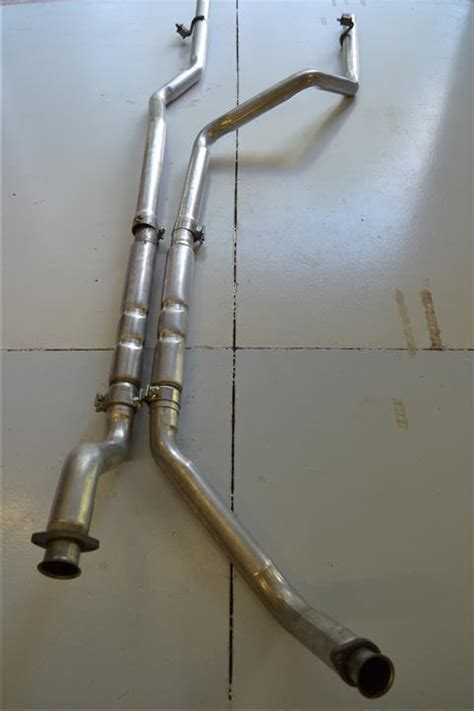 dual exhaust system   hedman painted