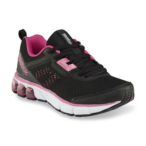 overall stripe black reebok 39 s jet dash ride athletic shoe black pink