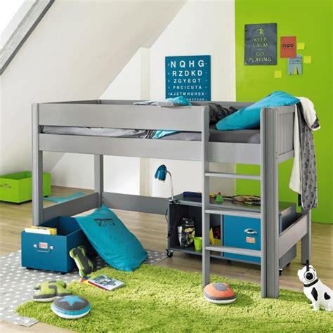 lit surélevé avec bureau intégré lit mezzanine enfant 25 belles idées gain d 39 espace