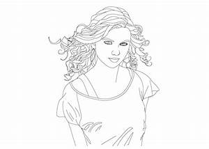 Taylorswift Free Colouring Pages