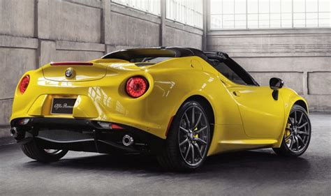 How Much Is The Alfa Romeo 4c by 2015 Alfa Romeo 4c Spider Launched In Detroit