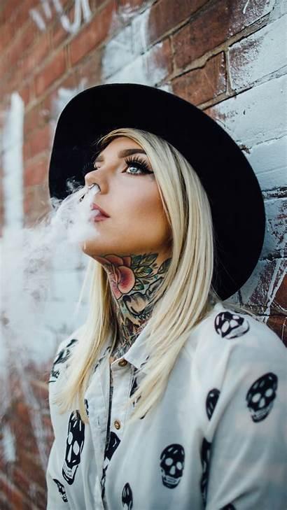 Tattoo Mobile Wallpapers Woman Smoke