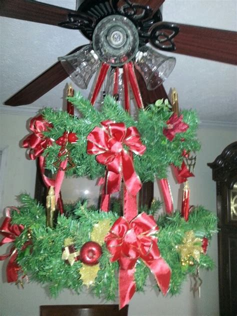 christmas ceiling fan decorating ideas 1000 images about fan on ceiling fans ceiling fan chandelier and