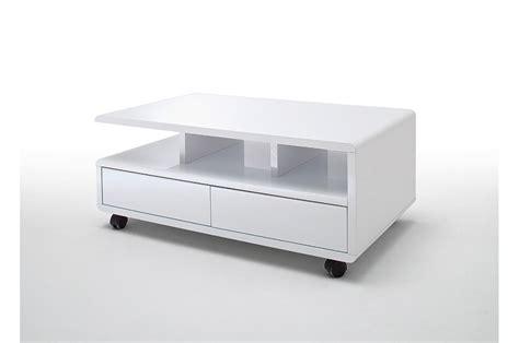 Table Basse Avec Tiroirs by Table Basse Blanche Sur Roulettes Avec Tiroirs Pour Table