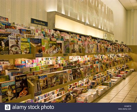 barnes and noble cancel order barnes and noble magazine and periodical rack stock photo