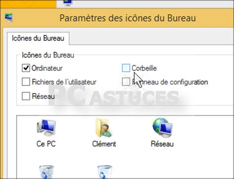 icones du bureau disparues retirer la corbeille du bureau windows 8 1