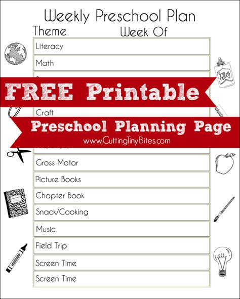 weekly themes for preschool free printable preschool planning page what can we do 260
