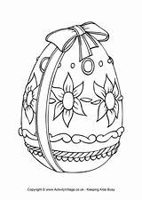 Easter Egg Coloring Colouring Pages Drawing Eggs Colour Printable Spring Drawings Adult Ribbon Printables Wrapped Simple Designs Sheets Activities Activity sketch template