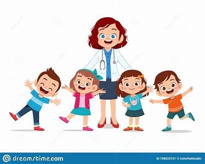 Doctor Clip Happy Smile Sick Stethoscope Kid
