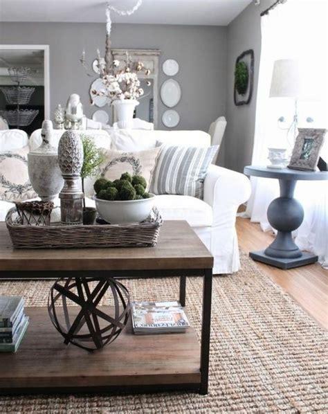 canap vintage marron deco salon gris et bois