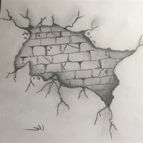 brick wall drawing 3d sketch of brick wall how to draw a brick wall 3d