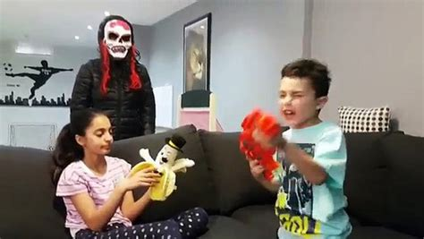 scary mask attacks bad baby  hzhtube kids fun video