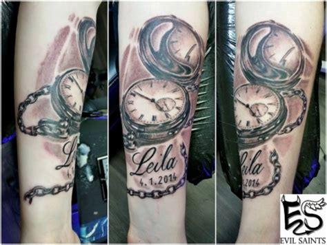 evilsaintstattoo taschenuhr tattoos von tattoo
