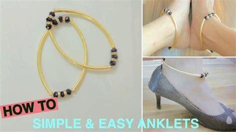simple  easy anklets diy anklets
